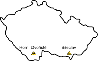 Měření a detekce výskytu radioaktivního záření obsahu vozových zásilek  železničních vozů  na hraničních přechodech Horní Dvořiště a Břeclav